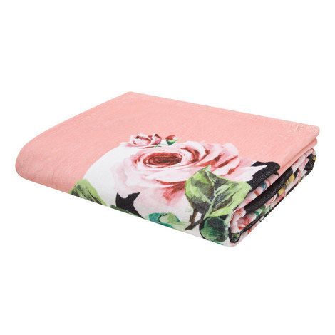 Rose Print Beach Towel, ${color}