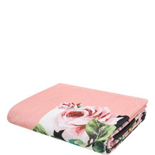 Rose Print Beach Towel