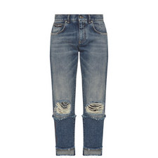 Cropped Step Hem Jeans