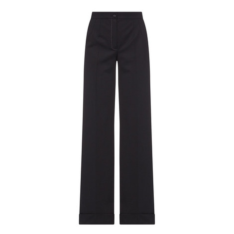 Wide Fit Crepe Trousers, ${color}