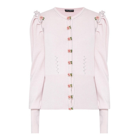 Rose Embroidered Cardigan, ${color}
