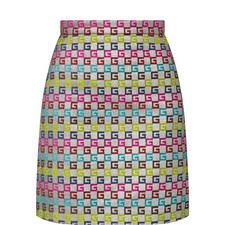 Lurex A-Line Skirt