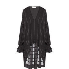 Relaxed Striped Runway Blouse