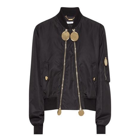 Double Zip Bomber Jacket, ${color}