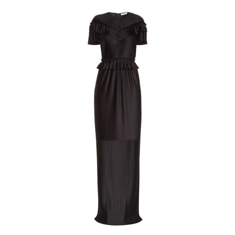 Pleated and Ruched Gown, ${color}