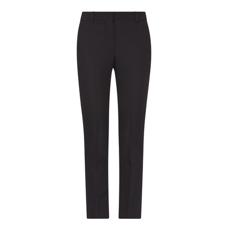 Straight Fit Wool Trousers, ${color}