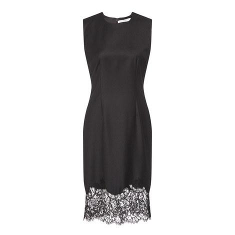 Sleeveless Lace Hem Dress, ${color}