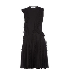 Sleeveless Ruffle Pleat Dress