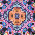 Kaleidoscope Print T-Shirt , ${color}
