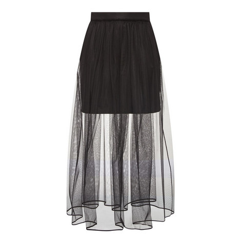Tulle Overlay Skirt, ${color}