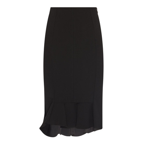 Asymmetric Zip Skirt, ${color}