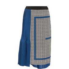 Two-Tone Pleat Skirt