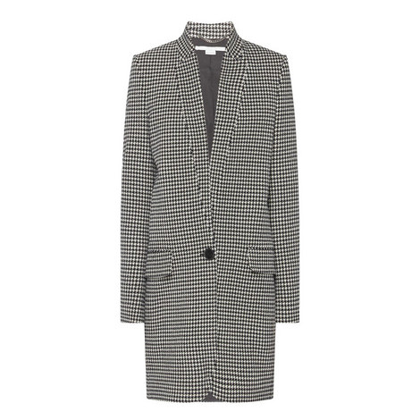 Houndstooth Buttoned Coat, ${color}