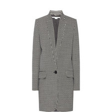Houndstooth Buttoned Coat