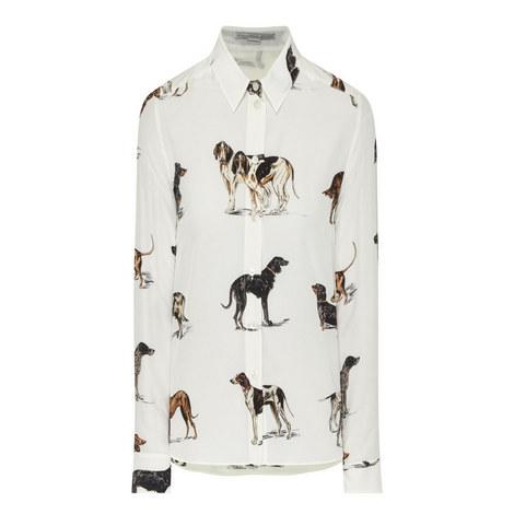 Dog Print Blouse, ${color}