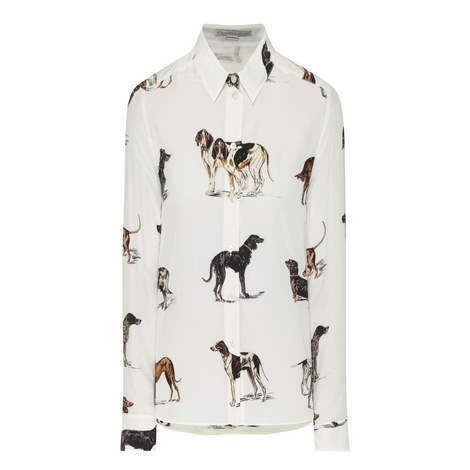 Dog Print Blouse , ${color}