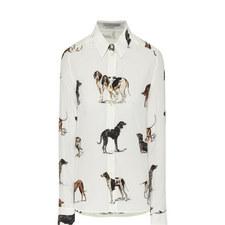 Dog Print Blouse