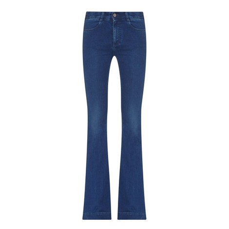 Flared High Rise Jeans, ${color}