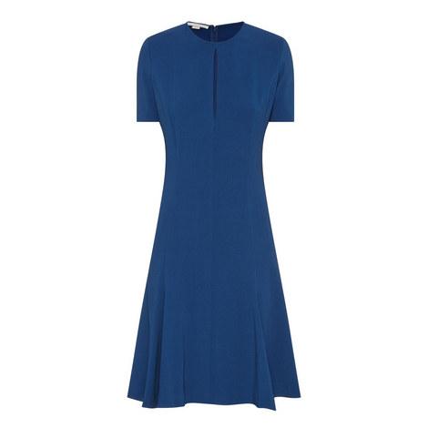Etta Flared Cady Dress, ${color}