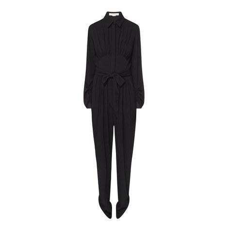 Crepe Long Sleeve Jumpsuit, ${color}