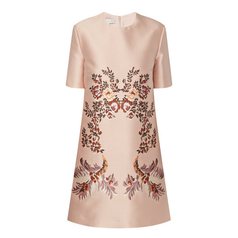 Flower Embroidered Dress, ${color}