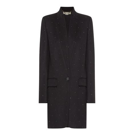 Studded Longline Coat, ${color}