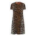 Leopard Print Short Sleeve Dress, ${color}