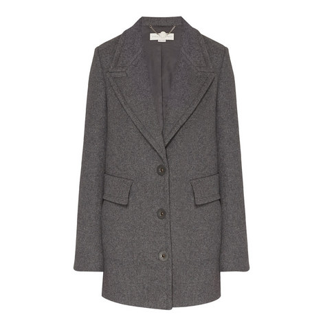 Single Breasted Mélange Coat, ${color}