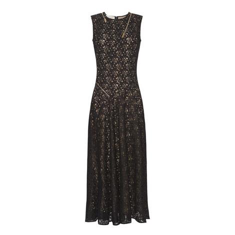 Zip Detail Lace Midi Dress, ${color}