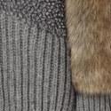 Faux Fur Trim Cardigan, ${color}