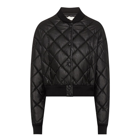 Quilted Cropped Bomber Jacket, ${color}