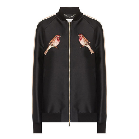Bird Emblem Bomber Jacket, ${color}