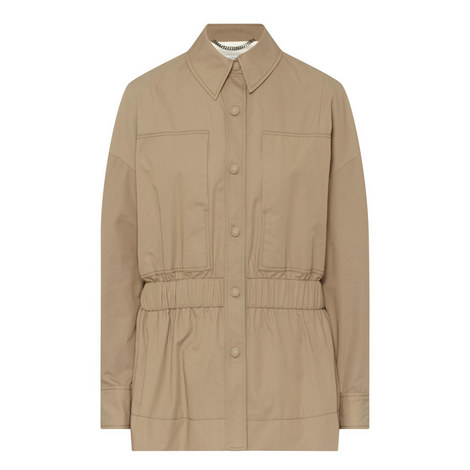 Fitted Trench Jacket, ${color}