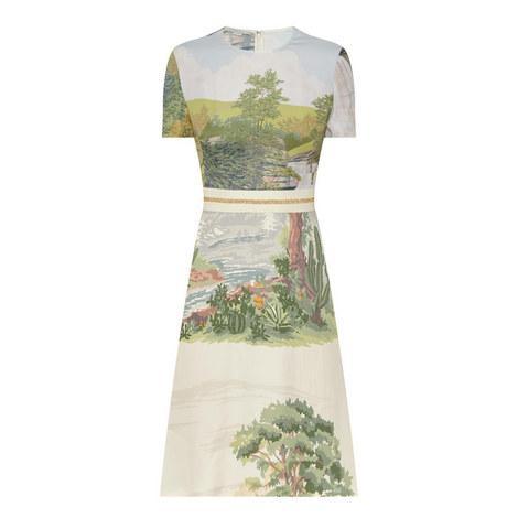 Landscape Print Dress, ${color}