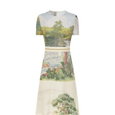 Landscape Print Dress