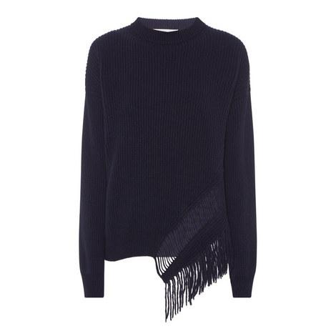 Ribbed Fringe Sweater, ${color}
