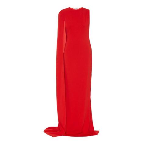 Long Drape Sleeve Gown, ${color}