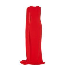 Long Drape Sleeve Gown