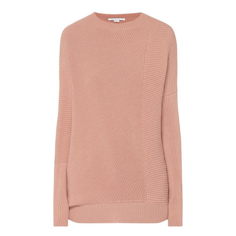Ribbed Round Neck Sweater, ${color}