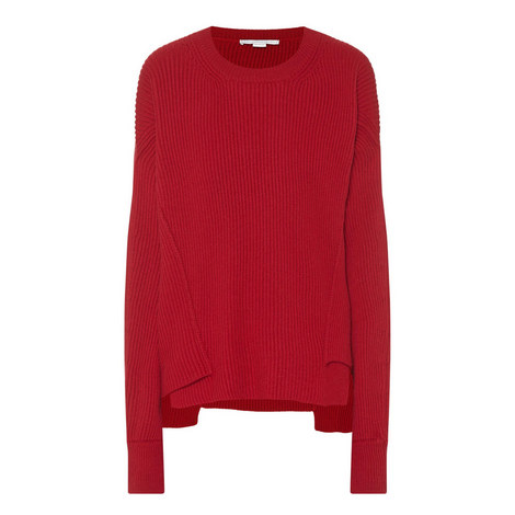 Long Sleeve Ribbed Sweater, ${color}