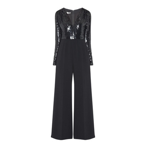 All-In-One Sequin Jumpsuit, ${color}