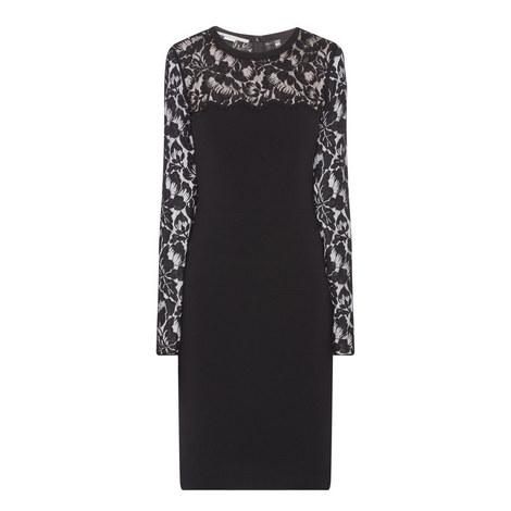 Long Sleeve Lace Pencil Dress, ${color}