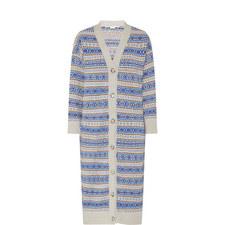 Long Multi-Stripe Cardigan