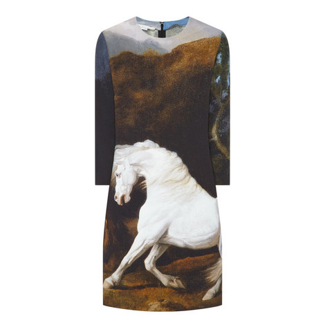 Kira Horse Print Dress, ${color}