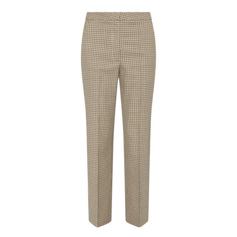 Cropped Check Trousers, ${color}
