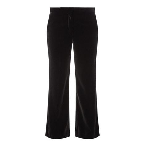 Flared Velvet Trousers, ${color}