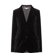 Single-Breasted Velvet Blazer
