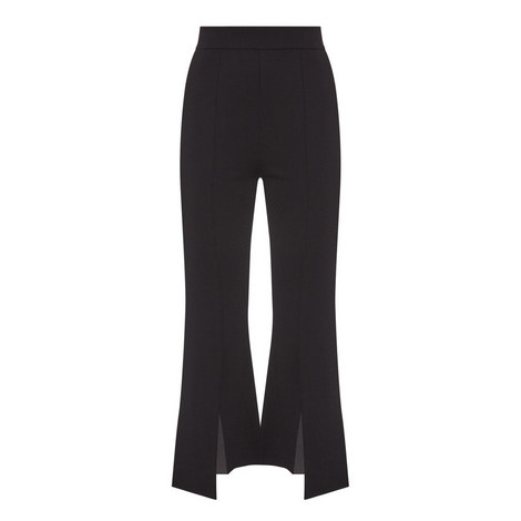 Kick-Flare Knitted Trousers , ${color}