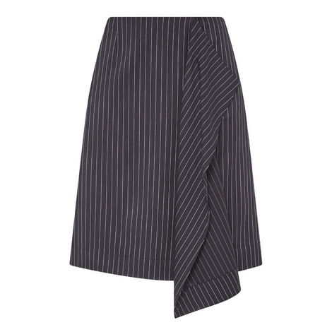 Asymmetric Pinstripe Skirt, ${color}