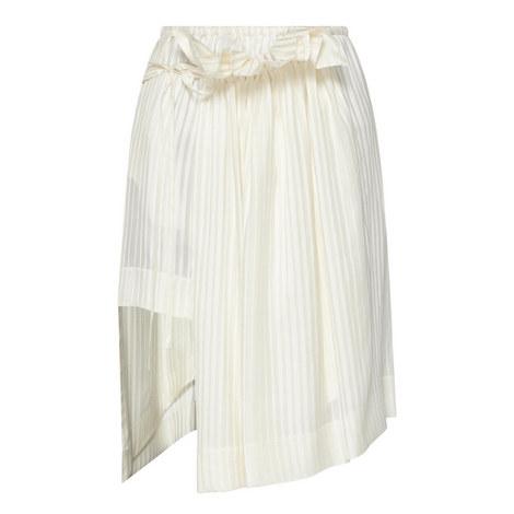 Striped Drape Midi Skirt, ${color}